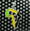 【マラソン中P10倍】シルバー925 ペンダントトップ Silver925 ラスタアフリカカットジャマイカカラーペンダント [シルバーアクセサリー] 限定!NEWカラーはジャマイカカラー! レゲエ好きもそれ以外の方も必見のアイテムです♪