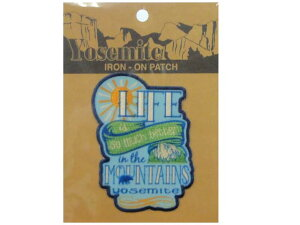 Yosemite IRON-ON PATCH (LIFE IN THE MOUNTAINS)ワッペンです。