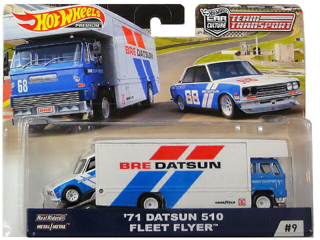 乗り物のおもちゃ, その他 HotWHeeLs CAR CULTURE TEAM TRANSPORT 71 DATSUN 510 FLEET FLYER