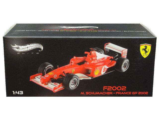 車, ミニカー・トイカー LIMITED EDITION 1 OF UP TO 5000HotWHeeLs ELITE F2002 M.SCHUMACHER FRANCE GP 2002 F2002 143