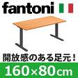 Garage パソコンデスク fantoni 頑丈なT字脚 幅160cm 奥行き80cm GT-168H 木目