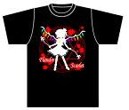 同人オリジナル 東方Project 東方 紅魔館 ブラック 【東方シルエットカラー フランドール・スカーレット】Tシャツ