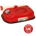 ガレージ・ゼロ ガソリン携行缶 横型 5L 赤/UN規格/消防法適合品/亜鉛メッキ鋼板/ガソリンタンク 1