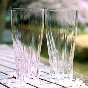 100%サクラサクグラス【SAKURASAKUglass】Pilsner(ピルスナー)紅白ペアさくらさくグラス酒器ビールグラス・タンブラー