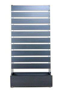 <樹脂製>木目調目隠しフェンス【プランターボックス付きコンフォートフェンス板間隔3cm高さ18…