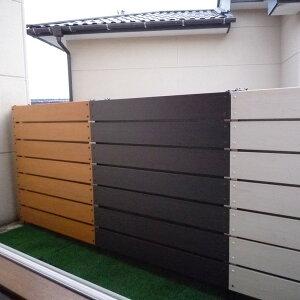 ストライプパネル板間隔1センチ(900mmx900mm)(分類ラティス)木目調プラスチックフェンスパネル)