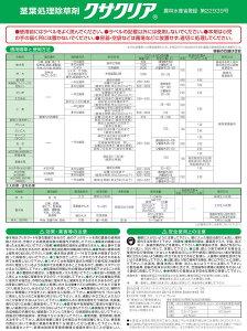 広い農地登録と安心の品質!「三共クサクリーン液剤500ml」