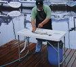 【送料無料】折りたたみ簡易流し台 屋外用 (作業台/ワークテーブル) 1150×585×H865 キャンプ BBQ