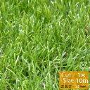 【送料無料】人工芝 高密度 リアル 人工芝ロール 1×10m〔35mm丈〕 【防炎検査済】芝用ピンのプレゼント付き