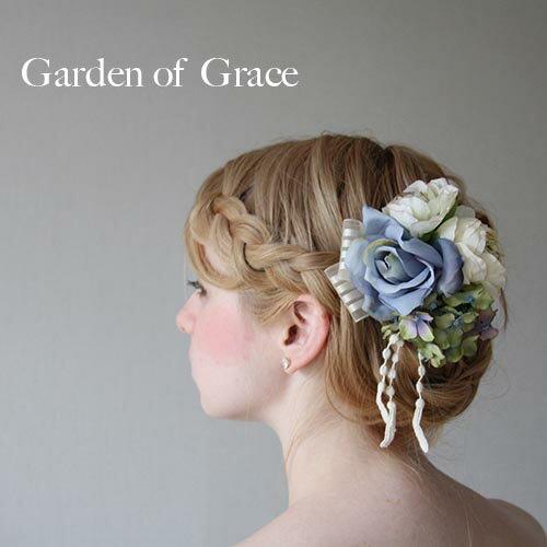【送料無料】【即納】造花のヘッドドレス.ウエディングヘッドドレス・