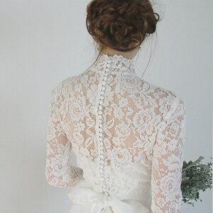ウエディングドレス長袖エンパイアドレス二次会花嫁ドレスボレロ