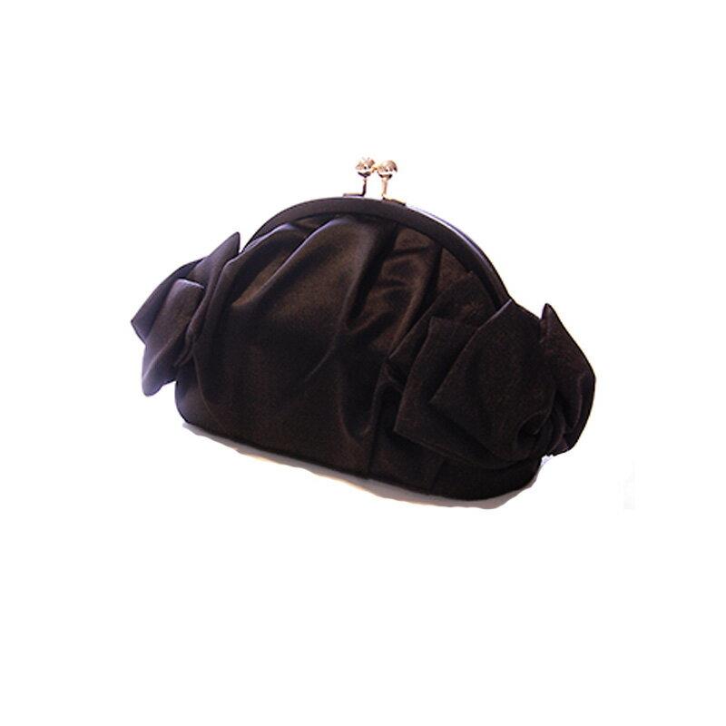 【レンタル】【レンタル バッグ】【フォーマル バッグ】【結婚式】パーティーバッグ おしゃれ リボン 黒 ブラック