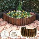 連杭花壇柵 W120×H30cm 花壇 仕切り 囲い 花壇フ