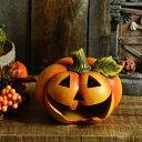 ハロウィン かぼちゃ ソーラーライト 大笑いパンプキン 置物 ライト ガーデン 雑貨 LED の インテリア 飾り 装飾 パーティグッズ 楽しく 点灯 光るの商品画像