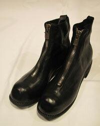 ブーツ, その他 GUIDI mens ORTHOPAEDIC FRONT ZIP SOLE LEATHERHORSE FULL GRAINBLKT PL1 HORSE FULL GRAIN mens