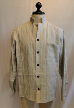 トップス, カジュアルシャツ 40Berg fabel shirt jacket grey stripeBFmsh32606