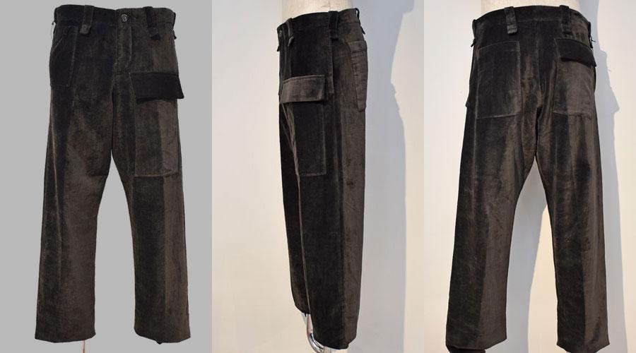 メンズファッション, ズボン・パンツ Berg fabel 20AWvelour worker pantsBFmP44a307