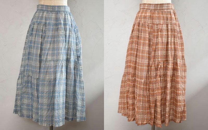 ボトムス, スカート 30FORME dexpression 21ss Tiered Midi Skirt DK035 GRTB,GRTOWOMENS