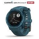 02dbe113c0 位, Instinct Lakeside Blue GARMIN ガーミン 新色 アウトドア マルチスポーツ 耐久性 光学式心拍計搭載 MIL GPS  スマートウォッチ 010-02064-52 送料無料