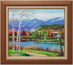 小林幸三『松原湖と八ヶ岳』油絵・油彩画 F10(10号)