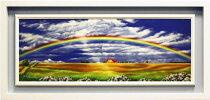 里中游『虹と大地』油絵・油彩画WF4