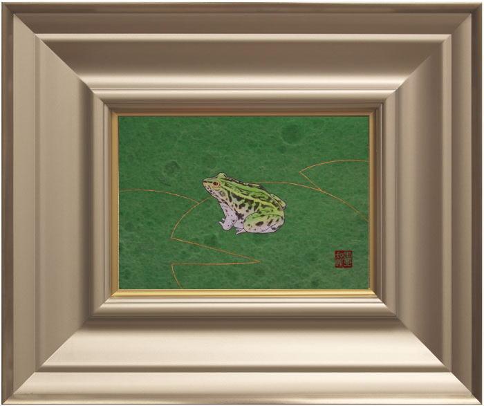 小川国亜起『微光』日本画 SM(サムホール) 【中古】:内田画廊