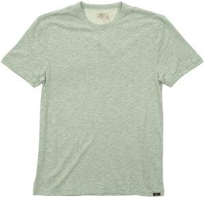 FAHERTY BRAND (ファリティ ブランド) スラブ生地 クルーネック Tシャツ 霜降りグリーン メンズ Pedlow Green 【あす楽】