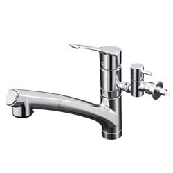 【3年保証付】*KVK*KM5021TTU 水栓金具 流し台用シングルレバー式シャワー付混合栓:給湯器とガスコンロのお店