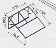 *太陽熱温水機*ノーリツ専用架台321A南向き傾斜面用・陸屋根用