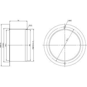 リンナイ DG-100-1 排気筒ガイド100(22-6803) ガス衣類乾燥機用