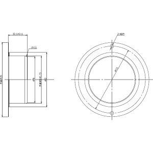 リンナイ DG-80-1 排気筒ガイド80(22-6799) ガス衣類乾燥機用