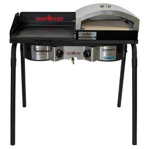 キャンプシェフ EXPLORER 2X 2バーナーBBQグリル EX60FP(J) グリドル&ピザ窯セット [国内正規品] Camp Chef《山梨倉庫出荷》