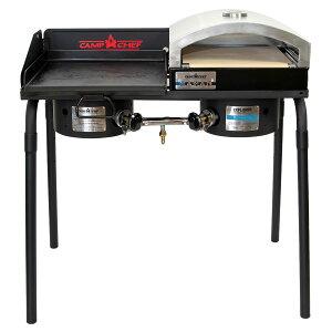 キャンプシェフ EXPLORER 2バーナーBBQグリル EX60LW(J) グリドル&ピザ窯セット [国内正規品] Camp Chef《山梨倉庫出荷》