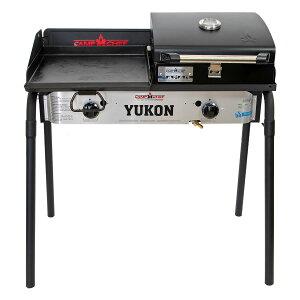 キャンプシェフ YUKON 2バーナーBBQグリル YK60LW(J) グリドル&グリルBOXセット [国内正規品] Camp Chef《山梨倉庫出荷》