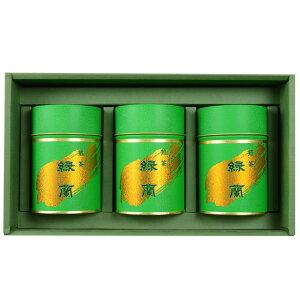 倭紙茶舗 江嶋 ギフトセット 「金線緑蘭 100g」 3缶セット 化粧箱入 GS-014