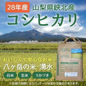 八ヶ岳・大泉高原産有機栽培低農薬コシヒカリ「八ヶ岳の米湧水」5kg(精米)