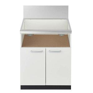 ノーリツ システムキッチン用 両開扉収納庫 NLA6031W ホワイト