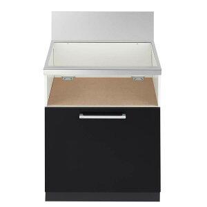 ノーリツ システムキッチン用 スライド収納庫(1段スライド) NLA6032 ブラック