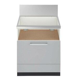 ノーリツ システムキッチン用 スライド収納庫(2段スライド) NLA6033SV マット調シルバー