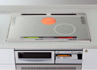 *IHクッキングヒーター*日立HTB-A9WS天板75cmビルトインタイプシングルオールメタル対応(右IH)水なし自動両面焼きグリル