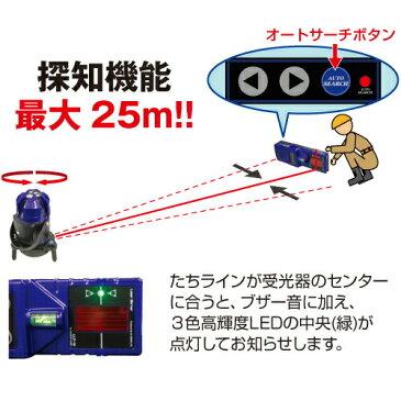 アックスブレーン 高輝度自動探知レーザー墨出器 PLV-751T(受光器LLT-10/クランプ付)[IP54]