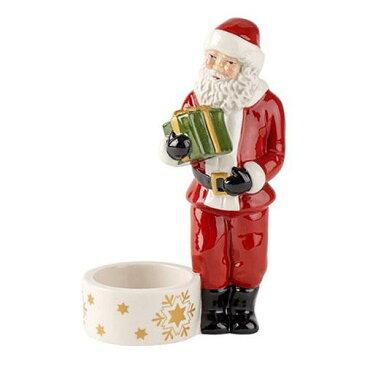クリスマス ビレロイ&ボッホ ノスタルジックライト ティーライトホルダー サンタ 置物 高さ13cm ティーライトキャンドルのオマケ付き