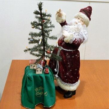 クリスマス サンタクロース フィギュア 人形 置物 Kurt S.Adler社 Santa decorates tree 高さ45cm 訳あり品 送料無料