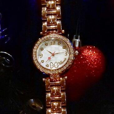 Disney ディズニー 腕時計 レディースウオッチ Minnie ピンクゴールドベルト プレゼント好適品