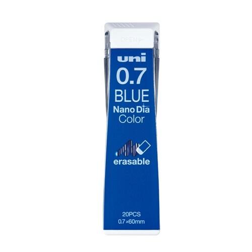 三菱鉛筆 ユニ ナノダイヤ カラー芯 0.7mm 青 U07202NDC.33 ... シャープペンシル 芯 - メール便対象