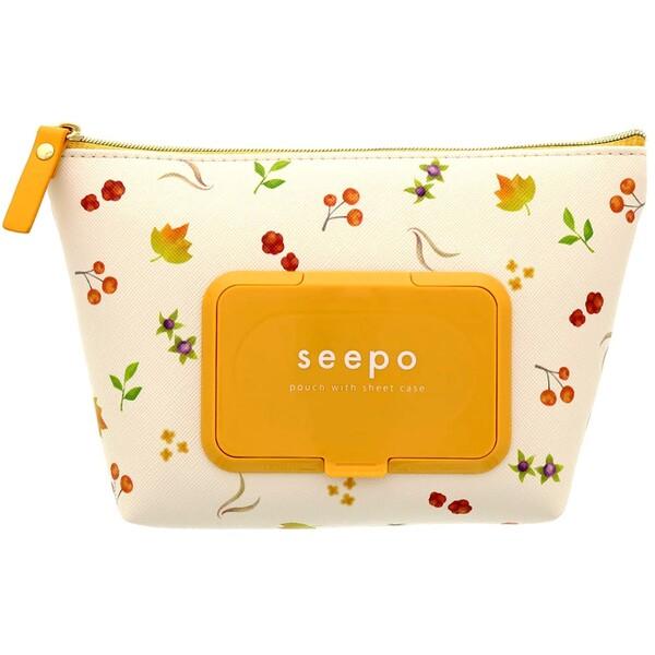 seepo シーポ 木の実 ウェットティッシュ おしりふきの詰替ケース ポーチ - メール便不可