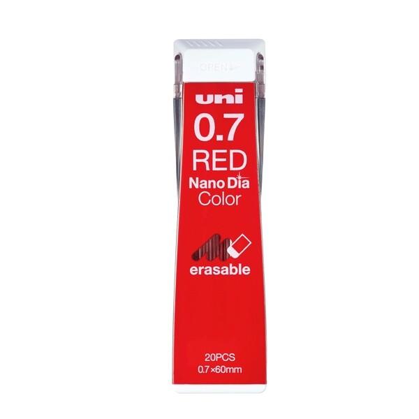 三菱鉛筆 ユニ ナノダイヤ カラー芯 0.7mm 赤 U07202NDC.15 ... シャープペンシル 芯 - メール便対象