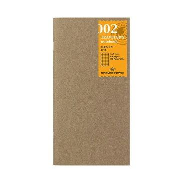 【メール便対象】【TRAVELER'S notebook】トラベラーズノート リフィル 002 セクション 方眼 レギュラーサイズ