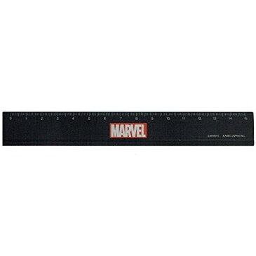 【メール便対象】定規 ものさし MARVEL マーベル 15cm ブラック