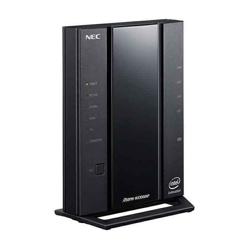 【9/20はエントリー&楽天カード決済でポイント7倍】エヌイーシー NEC Aterm Wi-Fiホームルータ無線LANルータ(親機) ブラック PA-WX3000HP画像